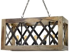 One Kings Lane Carlton 5-Light Pendant, Wood #farmhouse #light #fixture #chandelier #rustic #fixer #upper