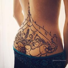 Intricate mehndi tattoo design by Anna Badass Tattoos, Sexy Tattoos, Unique Tattoos, Beautiful Tattoos, Body Art Tattoos, Tattoos For Women, Mehndi Tattoo, Lace Tattoo, Tattoo Hip