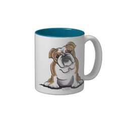 Brown n White English Bulldog Sit Pretty Coffee Mugs   Click on photo to purchase. Check out all current coupon offers and save! http://www.zazzle.com/coupons?rf=238785193994622463&tc=pin