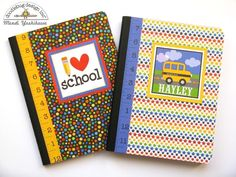 Doodlebug Back To School Notebooks, Pens
