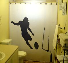 Transform Your Bathroom Into A Football Dream With Out Grunge - Bath rugby for bathroom decorating ideas