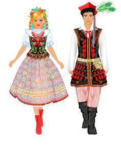 Krakowski Source by stanislawagalus Polish Folk Art, Costumes Around The World, Art School, Paper Dolls, Character Inspiration, Snow White, Disney Princess, Disney Characters, Homeland