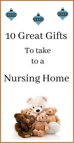 10 Gifts You Should Absolutely Take To A Nursing Home Elder Care