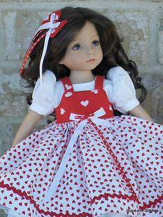 """Little Darling Valentine"" Dress by Eileen for Effner 13"" Kish McCall 14"" Doll | eBay. Ends 1 19/14"