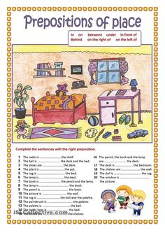 Prepositions of place (2).: