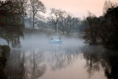 Mist on Lake Windermere in the early morning