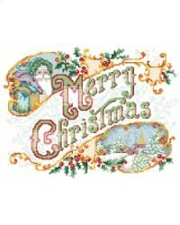 Merry Christmas Picture - everything cross stitch  sku 2719