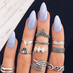 The nails...the rings.. OBSESSED. @indigo_lune