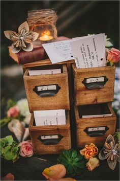 Cutely categorized escort cards