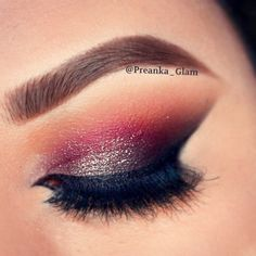 The perfect burgandy eye make up is hard to acheive but gives a killer look. :)