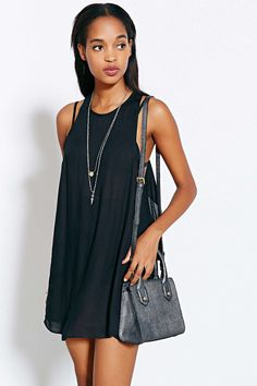 Silence + Noise Modern Bare Apron-Back Dress