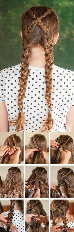 10 Beautiful Hair Tutorials To Unleash Your Inner Disney Princess. Can't wait till my hair is long again, I so want to do this :)