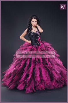 AQB0392 Popular Designer Ruffled Ball Gown Pink And Black Quinceanera  Dresses on AliExpress.com. c4ab8bdfa0b3