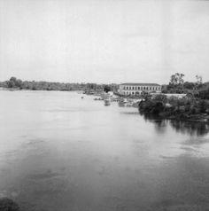 Cidade de São Miguel do Guamá a partir do Rio Guamá (PA). Marco zero da Belém -Brasilia, antiga BR 14.