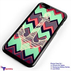 anchor aztec - Personalized iPhone 7 Case, iPhone 6/6S Plus, 5 5S SE, 7S Plus, Samsung Galaxy S5 S6 S7 S8 Case, and Other