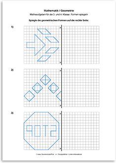 download geometrie linien und figuren spiegeln 2 matemaatika pinterest. Black Bedroom Furniture Sets. Home Design Ideas