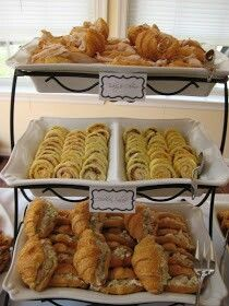 Party food -love the tiered trays