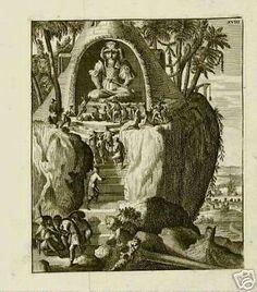 ANTIQUE-PRINT-TEMPLE-ARRAKAN-INDIA-1775