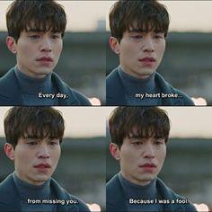 Brokenheart because every story has not a happy end Korea Quotes, Quotes Drama Korea, Korean Drama Quotes, Goblin Kdrama Quotes, Goblin Kdrama Funny, Goblin Funny, K Drama, Drama Film, Drama Movies