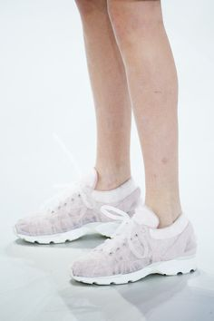 THE A TO Z OF COUTURE SHOES - is a sneaker: Chanel Couture s/s 2014, brilliant!