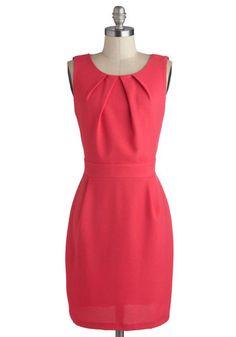 A Dramatic Dip Dress, #ModCloth