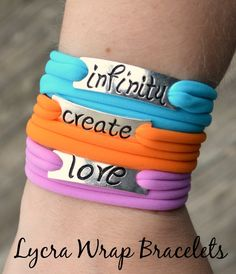Such a great summer #DIY - stacking wrap bracelets that look great with any outfit! http://www.alittlecraftinyourday.com/2015/06/24/stacking-lycra-wrap-bracelets/?utm_content=buffer5ae1c&utm_medium=social&utm_source=pinterest.com&utm_campaign=buffer #teencraft
