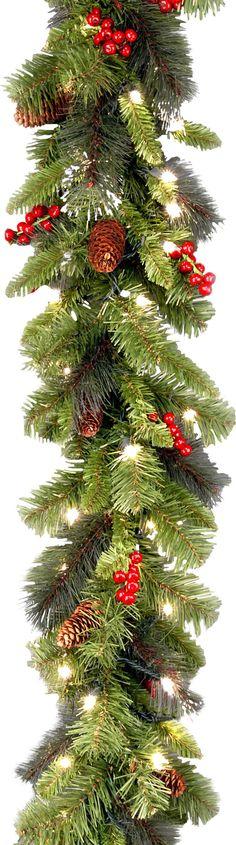 Crestwood Spruce Pre-Lit Garland