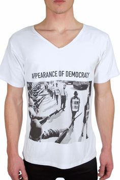 """PRICE 39,00 Eur ABIDELESS """"DEMOCRACY"""" series, now available at www.abideless.com #style #fashion #abideless #tshirt #dope #menstyle"""