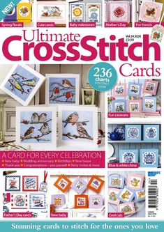 Ultimate Cross Stitch Vol. Dmc Cross Stitch, Cross Stitch Books, Cross Stitch Cards, American Patchwork And Quilting, Cross Stitch Magazines, Mollie Makes, Baby Wedding, Crochet Magazine, Get Well Cards
