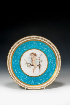 ANTIQUE MINTON PLATE ANTONIN BOULLEMIER Richard Gardner Antiques are based in West Sussex, England.