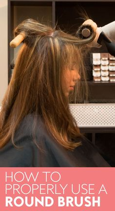 Your at-home blowout is about to get a lot better. See how to use a round brush to dry your hair here. Down Hairstyles, Straight Hairstyles, Blowout Hair Tutorial, Round Hair Brush, Blow Dry, Hair Hacks, Beauty Hacks, Beauty Tips, Your Hair