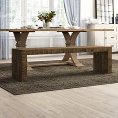 Birchley Extendable Solid Wood Dining Table & Reviews | Birch Lane Table, Solid Wood Benches, Traditional Furniture, Furniture, Solid Wood Dining Table, Wood Bench, Dining Armchair Wood, Wood Dining Table, Solid Wood Dining Chairs