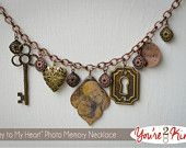 Key to My Heart - Photo Memory Necklace