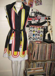 vintage 60s 70s Lavin op art shirt dress by lovestoryvintage, $75.00
