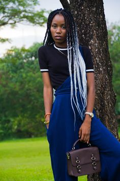 theolio.co.uk | ombre box braids | black and silver box braids | grey hair | style inspiration