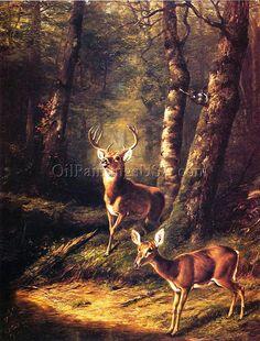 The Forest: Adirondacks, Arthur Fitzwilliam Tait | Oil Paintings USA