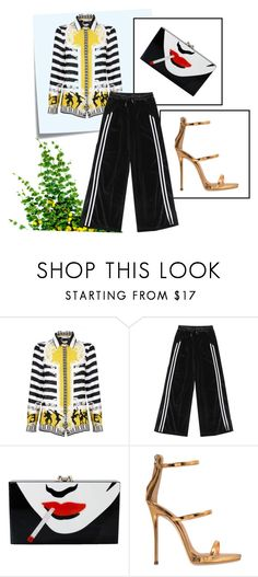 """Conforto É Chique!"" by ricardo-vitorino on Polyvore featuring moda, Post-It, Versace, Charlotte Olympia e Giuseppe Zanotti"