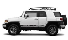CUSTOM TEXT Toyota FJ Cruiser Decal Vinyl Angled Side Door Racing Stripe Graphic #Oracal