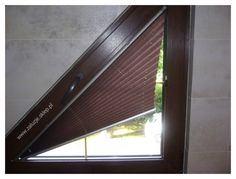 triangular window treatments | And, of course, the one I most wanted to show you, I can't find.
