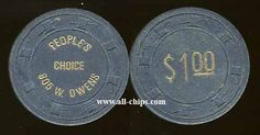 #LasVegasCasinoChip of the Day is a $1 Peoples Choice 1st issue from the early 80's you can get here http://www.all-chips.com/ChipDetail.php?ChipID=8053 #CasinoChip #LasVegas