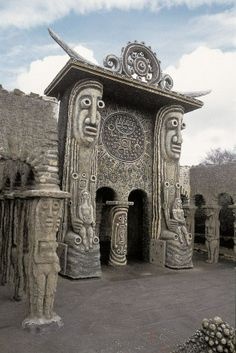 The unique sculptural architecture of Robert Tatin, in RV 32. http://rawvision.com/articles/robert-tatin