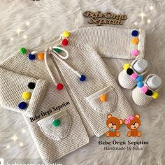 You can support by liking Photo … Diy Crochet Cardigan, Crochet Baby Jacket, Knitted Baby Cardigan, Knitted Baby Clothes, Crochet Clothes, Knitting For Kids, Baby Knitting Patterns, Baby Patterns, Baby Girl Sweaters