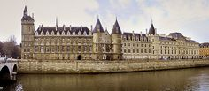 """La Conciergerie, once a palace became a French prison in 1391. It became internationally famous as the """"antechamber to the guillotine"""" during the Reign of Terror, the bloodiest phase of the French Revolution. It housed the Revolutionary Tribunal as well as up to 1,200 male and female prisoners at a time. Marie Antoinette spent the last days of her life here. Decommisioned in 1914 it is now houses the Palais de Justice law courts."""