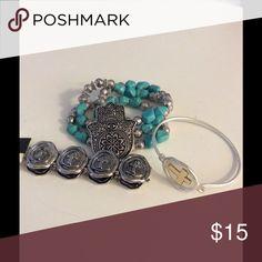 NWOT CROSS & HAMSA BRACELETS BUNDLE OF 3 BUNDL OF 3 CROSS AND HAMSA BRACLETS Jewelry Bracelets
