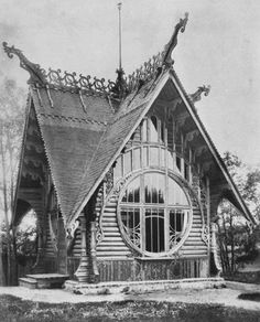 A Russian house done in the Art Nouveau/Modern style, early All photos from here. Discovered through user brotherinbeauty. Residence Architecture, Architecture Art Nouveau, Wooden Architecture, Russian Architecture, Amazing Architecture, Architecture Details, Muebles Estilo Art Nouveau, Art Nouveau Arquitectura, Art Nouveau Furniture