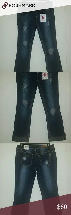 *NWT* Ripped boot cut jeans *NWT* Ripped boot cut jeans by 'What About Me' (WAM). WAM Jeans Boot Cut