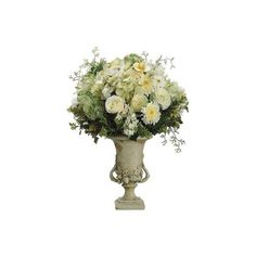 Faux Flower Arrangements ❤ liked on Polyvore featuring home, home decor and floral decor