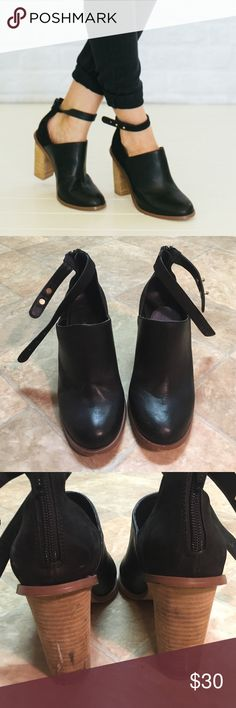 ALDO Ankle strap booties 3 inch heel. Please see wear on the last image Aldo Shoes Ankle Boots & Booties