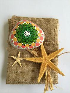 Handpainted Mandala Stone Mandala Art Decorative by MOIRAPINA