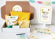 Einschulungsbox | Geschenkbox bunte Buchstaben von nähfein auf DaWanda.com